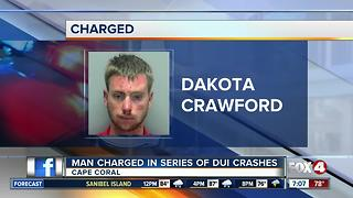 Cape Coral Man Charged in Series of DUI Crashes - Video