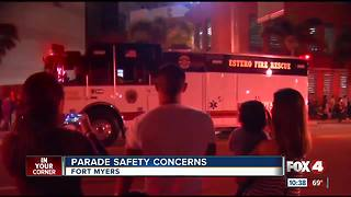 Parade safety concerns