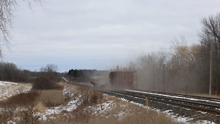 Ontario Train Derailment Caught on Camera - Video