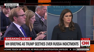 Huckabee Sanders Mad About Never Getting Questions on Tax Reform Right After Getting Question on It - Video