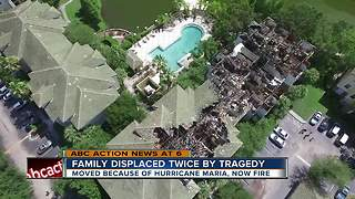 Family displaced twice by tragedy