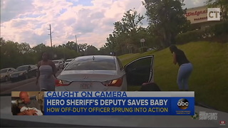 Off-Duty Officer Gets Flagged Down, Saves 3 Month Old Baby in Heroic Video