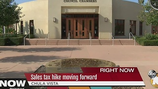 Sales tax hike in Chula Vista moving forward - Video