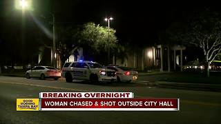 Woman shot and killed in front of Pinellas Park City Hall - Video