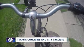 Traffic concerns and city cyclists - Video