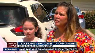 Texas family evacuates to Joppatowne - Video
