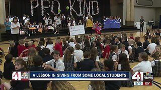 A lesson in giving from some local students