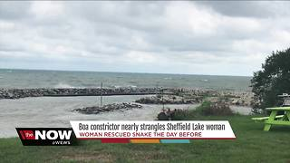 Sheffield Lake woman calls 911: I have a boa constrictor stuck to my face - Video
