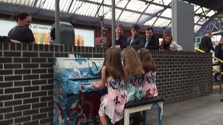 Commuters Calmed by Sounds of New Public Piano at Dublin Train Station - Video