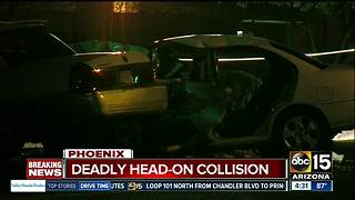 Suspected impaired driver causes head on crash, killing 1 in Phoenix - Video