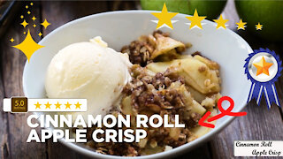 Fun & easy apple crisp cinnamon roll recipe