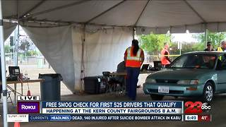 Hundreds of residents received a free smog check - Video