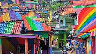 Indonesia's Beautiful Rainbow Village - Video
