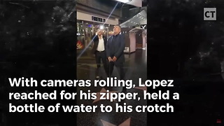 'Tolerant' George Lopez Videoed Appearing To Urinate on Trump's Hollywood Star - Video