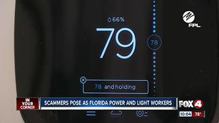 Scammers Pose as Floirda Power and Light Workers - Video