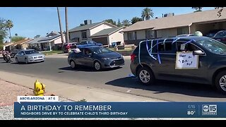 Phoenix family celebrates birthday with drive-by party