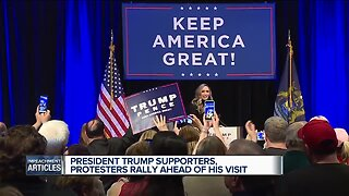 President Trump supporters, protesters rally ahead of his visit