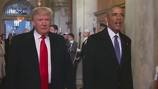 President and soon-to-be President arrive - Video