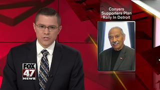 Conyers supporters to hold Monday rally at Detroit church - Video