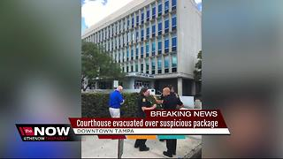 Suspicious package causes courthouse evacuation - Video