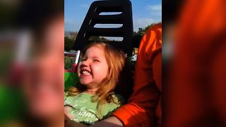 Girls First Rollercoaster Ride - Video