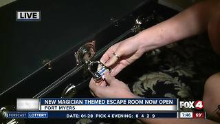 New magician themed escape room opens in Fort Myers - 7:30 am live report - Video