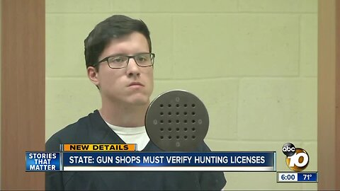State: Gun shops must verify hunting licenses
