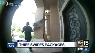 Thief swipes package from outside Gilbert home - Video
