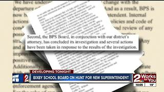 Bixby schools looking for new superintendent - Video