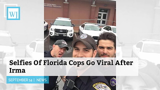 Selfies Of Florida Cops Go Viral After Irma - Video