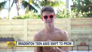 Local student's promposal to Taylor Swift going viral - Video