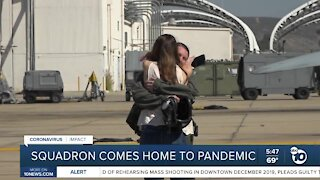 MCAS Miramar squadron comes home from deployment to pandemic