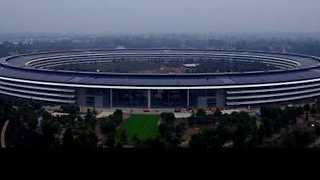 Drone Footage Captures Apple Campus Before its Debut - Video