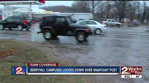 Berryhill Schools locked down all campuses over Snapchat threat on Friday