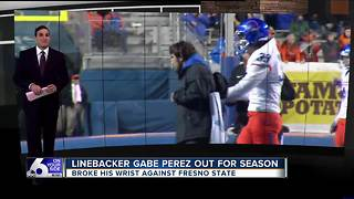 Gabe Perez Career with BSU is done due to an injury - Video