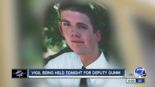 Vigil being held Friday evening for Deputy Gumm - Video
