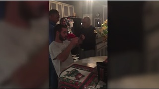 He Opens His Christmas Present And Seconds Later He's In Tears - Video