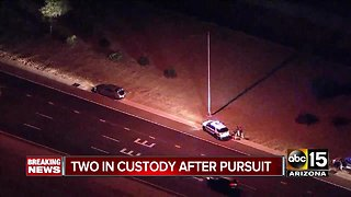 Two in custody after pursuit ends in Goodyear