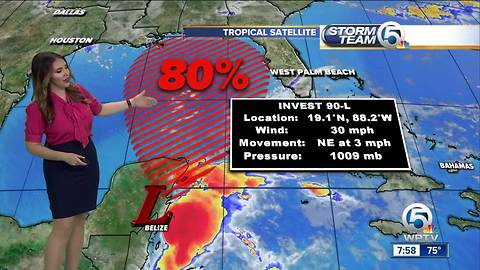 80% chance for tropical system to develop in the Gulf of Mexico