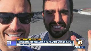 UCSD Dreamer released 5 days after wrong turn - Video