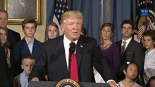 President Trump Gives Statement On Healthcare
