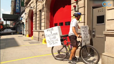 Man Rides His Bike 4,000 Miles To Honor Heroes