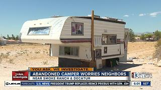 Neighbors worried about smelly camper trailer - Video