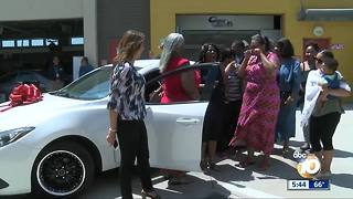 Students surprise lunch lady with restored car