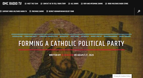 Forming A Catholic Political Party