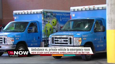 Ambulance vs. private vehicle to emergency room