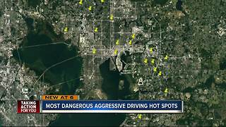 Report uncovers 20 worst places for aggressive driving crashes in Hillsborough County - Video