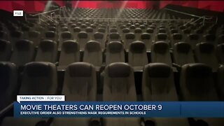 Gov. Whitmer signs order reopening movie theaters, performance venues & more on Oct. 9