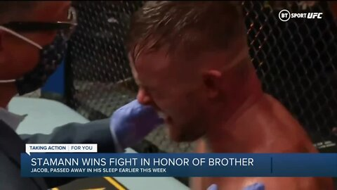 Michigan MMA fighter honors late brother in win