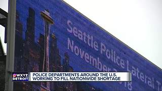 Police Departments around the US working to fill nationwide shortage